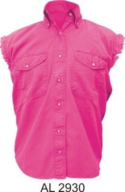 Ladies Pink Sleeveless Shirt
