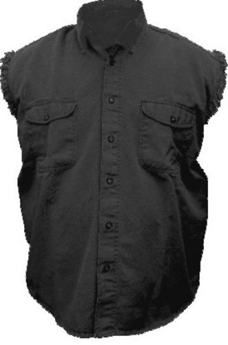 Ladies Black sleveless Shirt