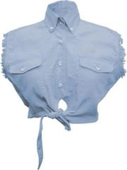Ladies Tie-up Light Blue Top