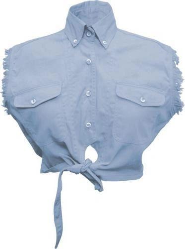 Ladies Tie-up Light Blue Top