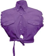Ladies Tie-up Purple Top
