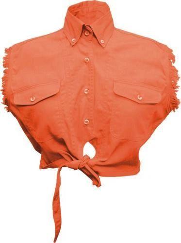 Ladies Tie-up Orange Top