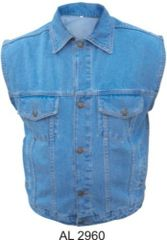 AL2960 Gun Pocket Men's Blue Denim Vest