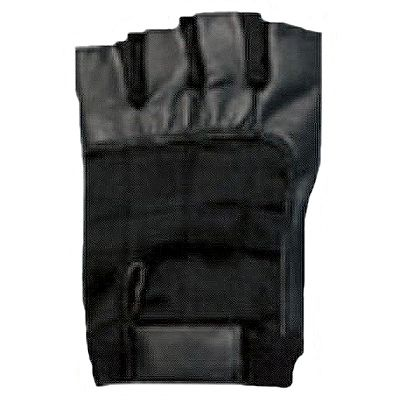 AL3002-Fingerless Black Leather Gloves
