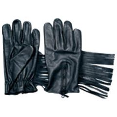 AL3019-Leather Lined Fringe Glove