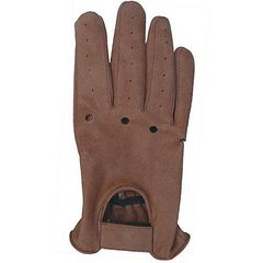 AL3028-Brown Leather Driving Gloves