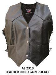Gun Pocket Ladies Club Single Panel Back Vest