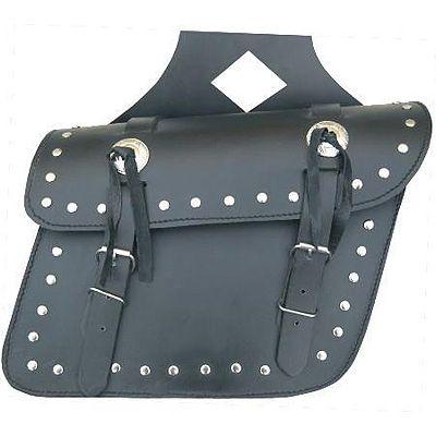 AL3601-Studded Leather Throw Over Saddlebag