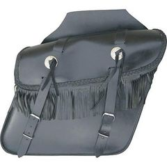 AL3602-Leather Fringed Throw Over Saddlebag
