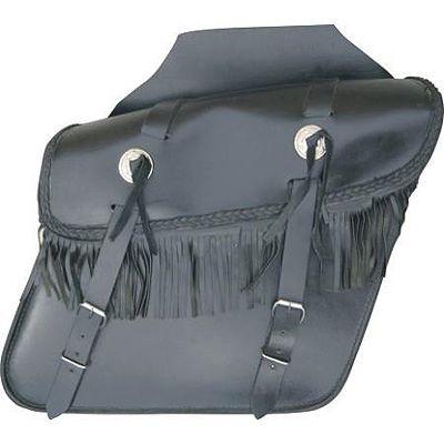 AL3602-Leather Fringed Throw Over Saddlebag