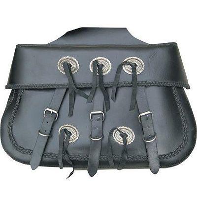 AL3650-Xtra-Large Braided Leather Throw Over Saddlebag