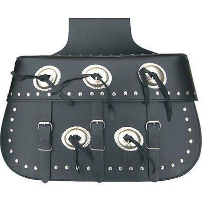 AL3651-Xtra-Large Studded Leather Throw Over Saddlebag