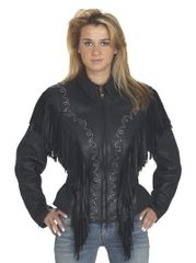 Womens Studded Black Motorcycle Jacket