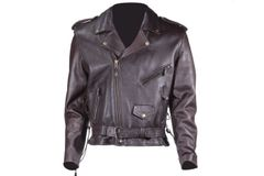 Mens Retro Black Motorcycle Jacket with Eagle