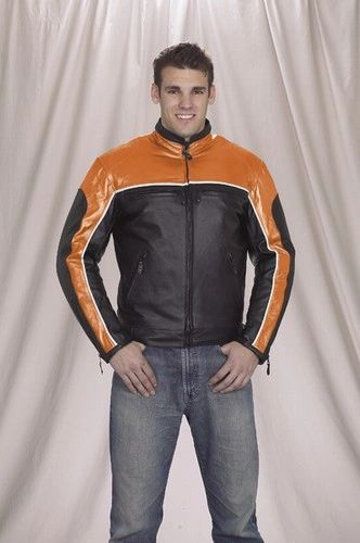 Men's Racer Motorcycle Jacket With Side Laces