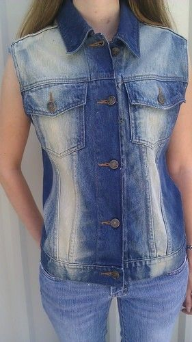 Ladies sleeveless Denim vest