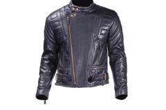 Mens Racer Style Motorcycle Jacket with Padding