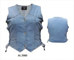 Gun Pocket Lady Biker Denim vest