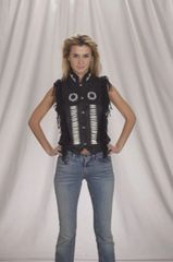 Ladies Braided and boned Motorcycle Vest