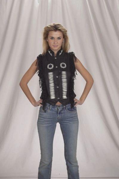 Ladies Braided and boned Motorcycle Vest