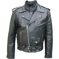 Men's Motorcycle Jacket with Neck Warmer