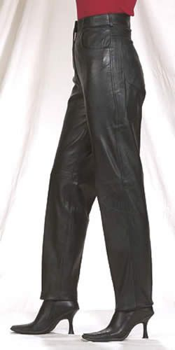 Ladies Leather 5 pocket Pants