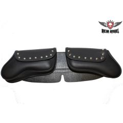 Studded 2 pocket Motorcycle Windshield Bag