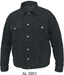 AL2951 Black Denim Jacket with gun pockets