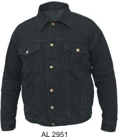 AL2951 Black Denim Jacket with gun pockets