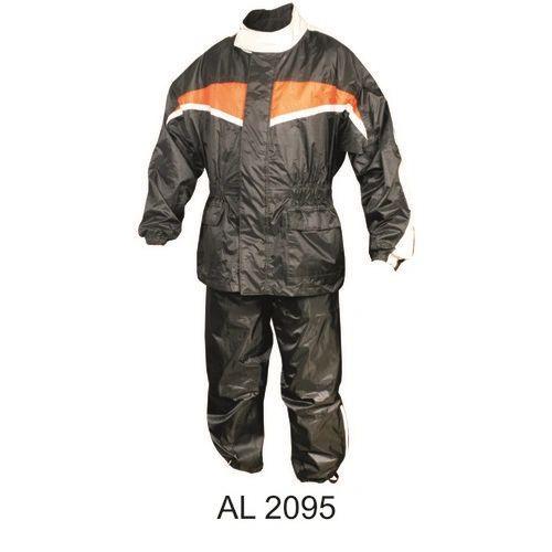 Mens Orange and Black Rain suit