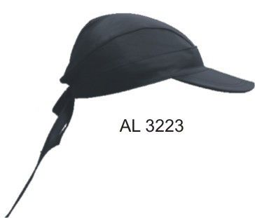 Leather Skull Cap with Visor