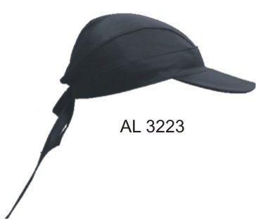 Leather Skull Cap with Visor