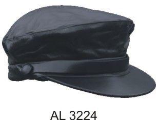 Biker Leather Cap