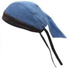 AL3398 Denim Leather Skull Cap
