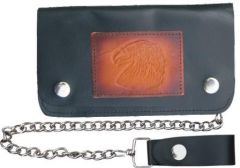 AL3287 Biker Wallet with Eagle Head