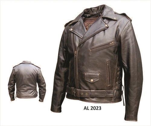 Men's Retro Brown Biker Jacket