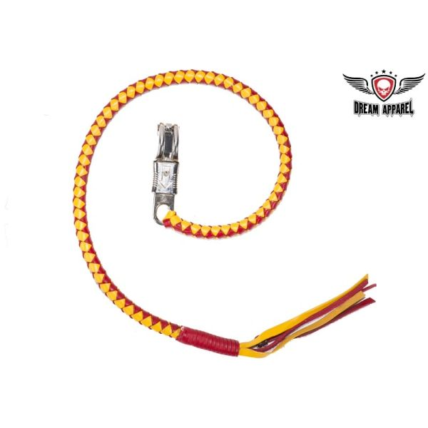 Yellow & Red Motorcycle Get Back Whip