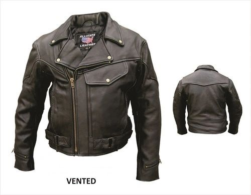 Men's Naked Leather Pistol Pete Motorcycle Jacket