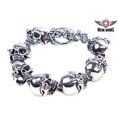 Heavy Duty Stainless Steel Bracelet With Cyborg Eye