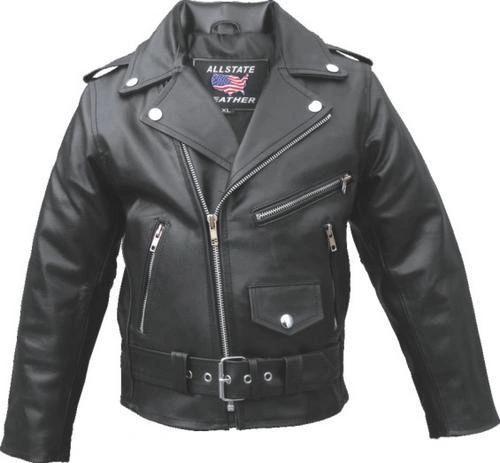 Kid's Basic Motorcycle Jacket Black