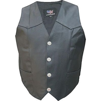 AL2210 Split Cowhide Leather Vest