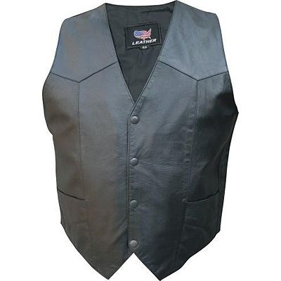 AL2212 Men's Basic Plain Biker Vest
