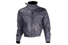 Mens Naked Cowhide Racer Style Jacket