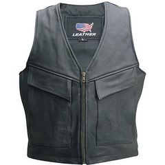 AL2252 Men's Cargo Pocket Motorcycle Vest