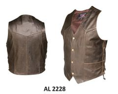Men's Retro Brown side laced Vest
