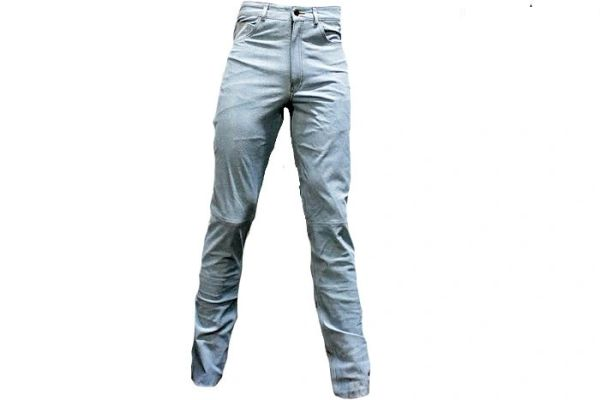Men's Leather Pants With Five Pockets