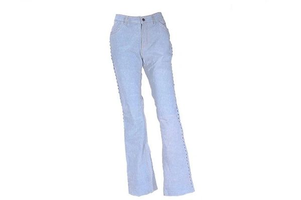Womens Denim Look LEATHER Pants
