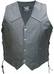 Men's Vest with Leather Lined Gun Pockets