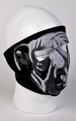 White Bulldog Face Mask
