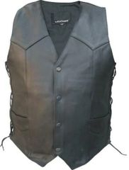 Men's Basic side Laced Motorcycle Leather vest